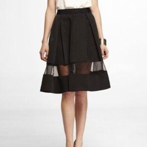 Express Organza Midi Skirt